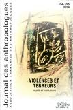 Laurent Bazin et Marion Aubrée - Journal des anthropologues N° 154-155/2018 : Violences et terreur - Sujets et institutions.