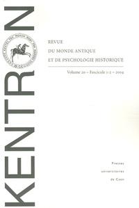 Bernard Deforge et Jean-Marie Mathieu - Kentron N° 20/2004 : .