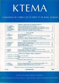 Edmond Frézouls et Edmond Lévy - Ktèma N° 10/1985 : .