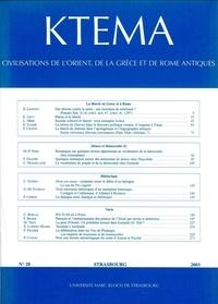 Dominique Beyer et Henriette Pavis d'Escurac - Ktèma N° 28/2003 : .
