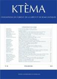 Edmond Lévy et Dominique Beyer - Ktèma N° 40/2015 : La royauté dans la Grèce antique.