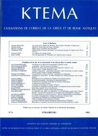 Edmond Frézouls et Edmond Lévy - Ktèma N° 6/1981 : .