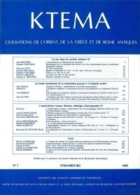 Edmond Frézouls et Edmond Lévy - Ktèma N° 7/1982 : .