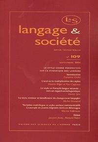 Françoise Gadet et Mireille Bilger - Langage & société N° 109, Septembre 20 : .