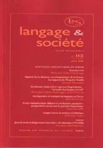 Marie-José Dalbera-Stefanaggi et Dominique Foata - Langage & société N° 112, Juin 2005 : .
