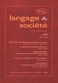 MSH - Langage & société N° 115 Mars 2006 : .