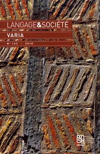 Josiane Boutet - Langage & société N° 163/2018 : Varia.