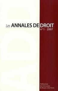 Jacques Bouveresse et Vanessa Brochot - Les Annales du droit N° 1, 2007 : .
