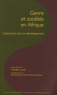 Thérèse Locoh - Les cahiers de l'INED N° 160 : Genre et sociétés en Afrique - Implications pour le développement.