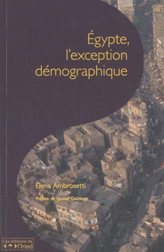 Les cahiers de l'INED N° 166 Egypte, l'exception démographique