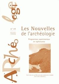 Armelle Bonis et Sandrine Costamagno - Les nouvelles de l'archéologie N° 118, décembre 200 : Programmes expérimentaux en taphonomie.