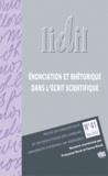 Françoise Bloch - LIDIL N° 41, Mai 2010 : Enonciation et rhétorique dans l'écrit scientifique.
