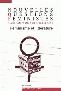 Saba Bahar et Valérie Cossy - Nouvelles Questions Féministes Volume 22 N° 2/2003 : Féminisme et littérature.