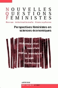 Anne-Françoise Praz - Nouvelles Questions Féministes Volume 26 N° 2/2007 : Perspectives féministes en sciences économiques.