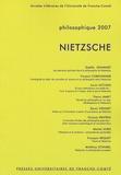 Gaëlle Jeanmart et Vincent Cordonnier - Philosophique 2007 : Nietzsche.