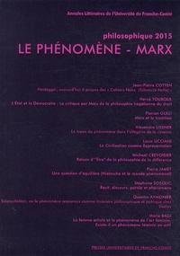 Louis Ucciani - Philosophique 2015 : Le phénomène - Marx.