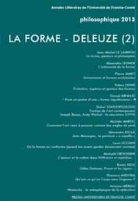 Louis Ucciani - Philosophique N° 2013 : La forme - Deleuze (2).