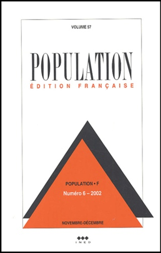 Ined - Population Volume 57 N° 6, Nove : .