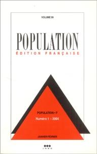 Marion Selz et Claude Thélot - Population Volume 59 N° 1, Janv : .