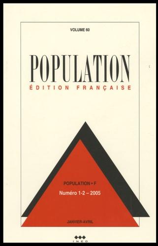 François Héran - Population Volume 60 N° 1, Janv : .