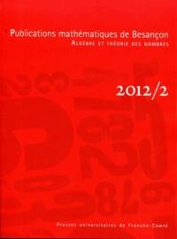 Christian Maire - Publications mathématiques de Besançon N° 2/2012 : .