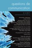 Julien Longhi - Questions de communication Actes N° 31/2017 : Humanités numériques, corpus et sens.
