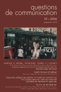 Claude Chabrol - Questions de communication N° 10/2006 : Humour et médias - Définition, genres et cultures.