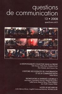 Ruth Amossy et Gilles Bastin - Questions de communication N° 13/2008 : La responsabilité collective dans la presse.