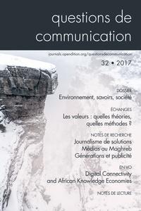 Igor Babou - Questions de communication N° 32/2017 : Environnement, savoirs, société.