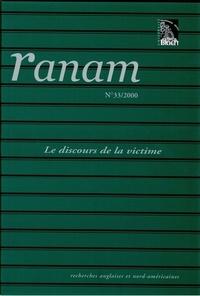 Jean-Jacques Chardin et Christian Civardi - Ranam N° 33/2000 : Le discours de la victime.