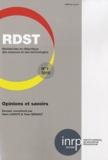 Yann Lhoste - RDST N° 1-2010 : Opinions et savoirs.