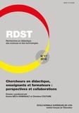 Karine Bécu-Robinault et Christine Couture - RDST N° 17-2018 : Chercheurs en didactique, enseignants et formateurs : perspectives et collaborations.