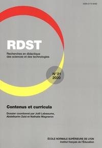 Joël Lebeaume et Abdelkarim Zaid - RDST N° 21/2020 : Contenus et curricula.