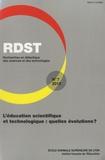 Ludovic Morge et Christian Orange - RDST N° 7-2013 : L'éducation scientifique et technologique : quelles évolutions ?.