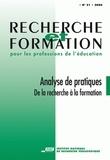 Max Butlen et Anne-Marie Chartier - Recherche et formation N° 51, 2006 : Analyse de pratiques - De la recherche à la formation.
