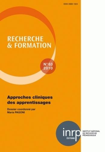 Maria Pagoni - Recherche et formation N° 63, 2010 : Approches cliniques des apprentissages.