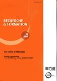 Yves Dutercq et Hélène Buisson-Fenet - Recherche et formation N° 78-2015 : Les cadres de l'éducation.