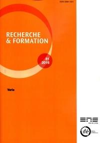 Recherche et formation N° 81-2016.pdf