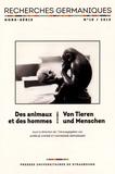 Aurélie Choné et Catherine Repussard - Recherches germaniques Hors-série N° 10/201 : Des animaux et des hommes - Savoirs, représentations et interactions.