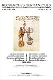 Aurélie Choné et Jean-Pierre Brach - Recherches germaniques Hors-série N° 13/201 : Un roman alchimique à Strasbourg - Les Noces Chymiques de Christian Rose-Croix (1616-2016).