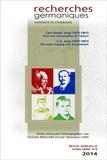 Véronique Liard et Christine Maillard - Recherches germaniques Hors-série N° 9/2014 : Carl Gustav Jung (1875-1961) - Pour une réévaluation de l'oeuvre.