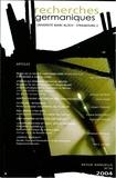 PU Strasbourg - Recherches germaniques N° 34/2004 : Varia.