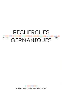 Aurélie Choné et Catherine Repussard - Recherches germaniques N° 44/2014 : .