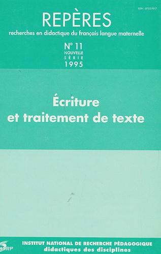 Sylvie Plane - Repères N° 11/1995 : Ecriture et traitement de texte.