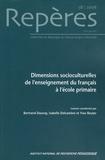 Bertrand Daunay et Isabelle Delcambre - Repères N° 38/2008 : Dimensions socioculturelles de l'enseignement du français à l'école primaire.