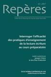 Jacques Crinon et Ana Dias-Chiaruttini - Repères N° 55/2017 : Interroger l'efficacité des pratiques d'enseignement de la lecture-écriture au cours préparatoire.
