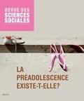 Nicoletta Diasio et Virginie Vinel - Revue des Sciences Sociales N° 51/2014 : La préadolescence existe-t-elle ?.