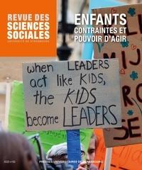 Virginie Vinel et Francesca Zaltron - Revue des Sciences Sociales N° 63/2020 : Enfants - Contraintes et pouvoir d'agir.