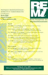 Rosita Fibbi et Gianni D'Amato - Revue européenne des migrations internationales Volume 24 N° 2/2008 : Pratiques transnationales - mobilité et territorialités.