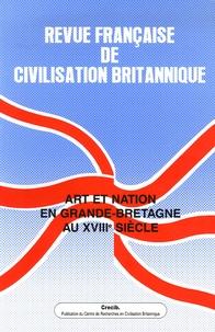 Suzy Halimi - Revue française de civilisation britannique Volume 13 N° 4, Prin : Art et nation en Grande-Bretagne au XVIIIe siècle.